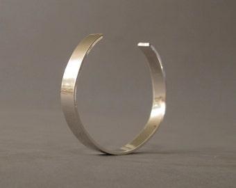 Mens cuff bracelet, Sterling silver cuff , Mens cuff made to order, Mens jewelry