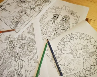Halloween Set 2016 - 4 coloring pages