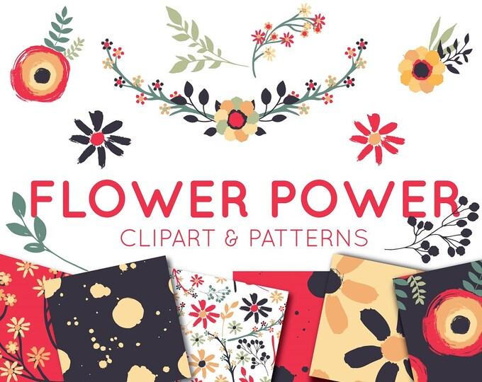 Wild Flowers Clipart Set