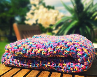 Colourful Crocheted Blanket