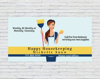 House Cleaning Business Card | Maid Business Card Design, Housekeeping Business Card, Cleaning Business Card, Calling Card, Cleaning, Maid