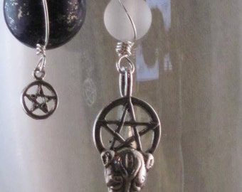 Bast Pentacle Earrings (no.270)