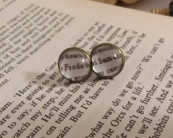 Frodo and Sam Lord of the Rings Stud Earrings