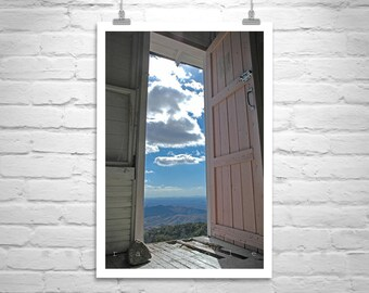 Fine Art Photography, Surreal Photograph, Arizona Landscape Art, Fire Lookout Picture, Door Art, MurrayBolesta, Arizona Gift, Room with View