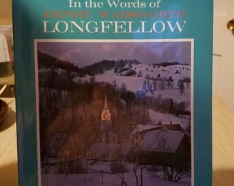 Vintage Poetry by Longfellow Coffee Table Book 1965