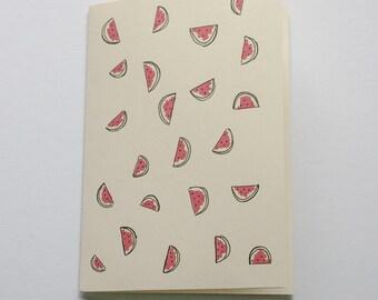 WATERMELON greeting card / watermelon Birthday Card / watermelon Christmas card / watermelon anniversary card girlfriend / fruit card