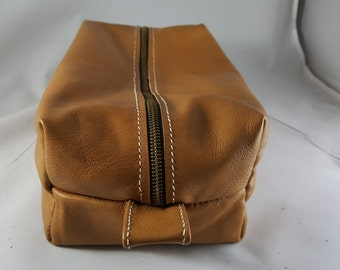 Leather Dopp, Make-up, or accessory bag