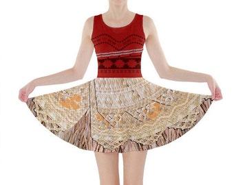 Moana Inspired Skater Dress