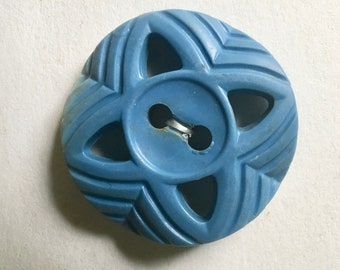 Vintage Blue Early Plastic Buttons for Sewing and Crafting