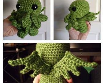 Adorable Crochet Cthulhu