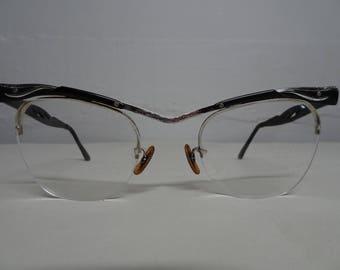 Bausch & Lomb Cat Eye 12K Gold Filled Eyeglasses - FREE SHIPPING