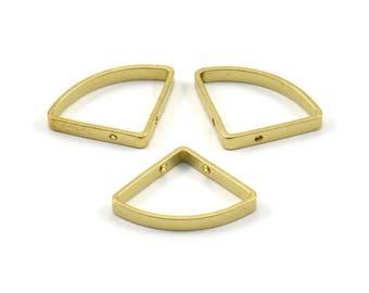 Brass Triangle Charm, 12 Raw Brass Triangles with 2 Holes (20x15x2.4x0.7mm) BS 2328