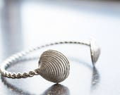Clam Shell Cuff- Sterling...
