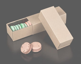 Kraft Slider Boxes,  Take Out Box - Cookies , Packaging Wedding Favors Boxes / Favor Boxes
