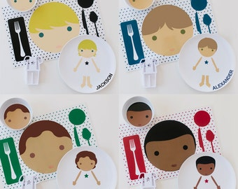 BOY Personalized Little Me - Dress Up Plate - Personalized Kids Plate - Personalized Plate - Melamine Plate for Kids - Dress Up