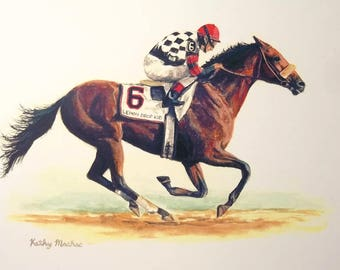 LEMON DROP KID Champion Racehorse Color Print