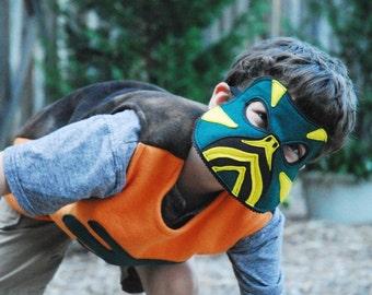 Western Painted Turtle Costume - Mask, Vest, Mask & Vest Combo