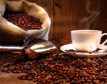 Coffee Dark Roast Unflavored Coffee 16 ounces Whole Bean or Ground free One Pound