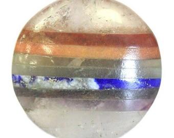 Flat stone - 7 chakra stone