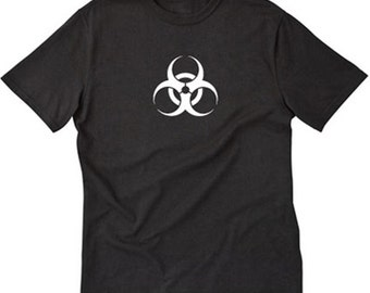Biohazard T-shirt Funny Symbol Danger Hazardous Materials Zombies Tee Shirt