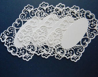 Lace Die Cuts From Bazzill Cardstock (235)