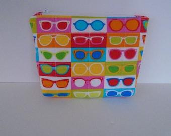 Eyeglass Fabric Zippered Pouch