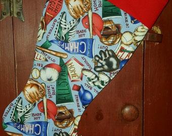 Baseball Christmas Stocking