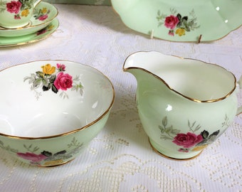 Mint Green Creamer and Sugar Bowl from the 1960s
