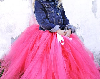 The Katherine - Custom Long Ballet Style Tulle Skirt - SEWN and Super FULL Tutu - pick your colors and length