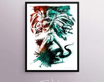 Black Swan poster, by Fred Jourdain