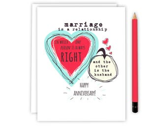 Wedding Anniversary Card - Funny Anniversary - Wedding Anniversary - Anniversary Card for Wife -