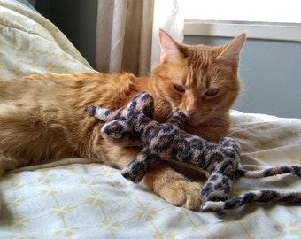 Cat Nip Safari Rat- Leopard Fleece Cat Toy