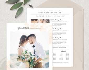 Photo Price List - Wedding Pricing Template, Photography Pricing Guide, Wedding Photography Pricing Guide, Price Guide List