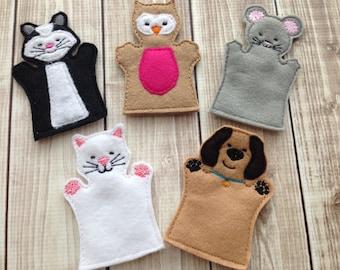 Animal finger puppet set