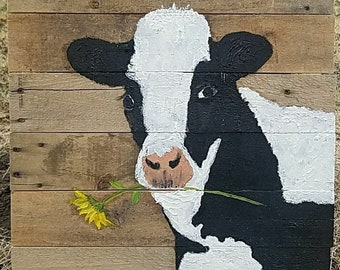 Black and White Daisy Cow