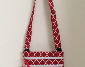 Handmade - Hand Bags - Bags - Purses - Cross Body -  Over Shoulder -  Red PRICE REDUCTION NOW 28.00