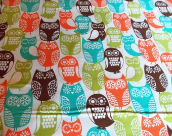 Michael Miller Swedish Owls in Brown - by the yard