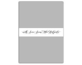 Back Panel Design // Second Side for Cards // Card Back Side // Back Design for Holiday Cards // Birth Announcement Back // The Halperts