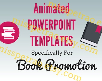 Book Promotion Powerpoint Pre-Programmed Templates to create book trailer videos and book graphics