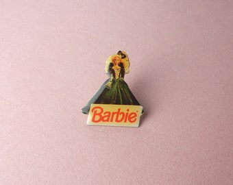 Badges Vintage Barbie doll Mattel 90's Enamel Pin prom evening dress