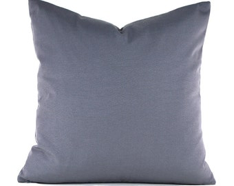 Outdoor Pillows Decorative Pillows Outdoor Pillow Covers ANY SIZE Pillow Cover Solid Grey Pillow Mill Creek Outdoor Fresco Charcoal