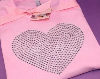 LARGE HEART rhinestud tee by Daisy Creek Designs