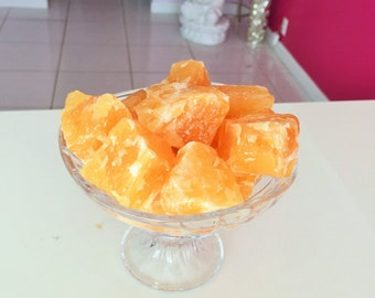 Large Yellow Calcite RAW Stones Great for Crystal Grids, Reiki Jewelry Making,
