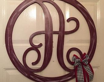 Monogram Door Decor -  Monogram Door Hanger - Door Hanger - Home Decor - Monogram - Monogram Letter - Monogram Wall Decor - Monogram Art