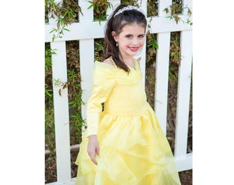 Beautiful Belle Princess Dress in a Gorgeous & Comfortable Long Sleeve | Toddler | Youth