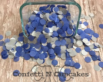 Navy and Silver Tissue Paper, circle confetti, tissue paper confetti, wedding reception, confetti toss,