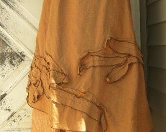 Vines Slant Skirt