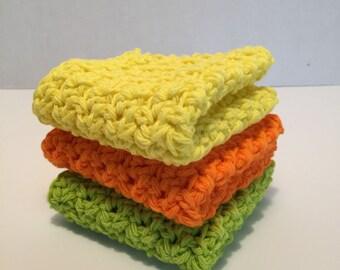 Set of 3 Dishcloths/Washcloths
