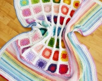 Crochet Pattern: Around the Corner Blanket, Afghan, Throw