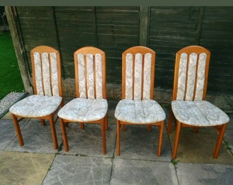Vintage set of 4 high quality Solid dining chairs.